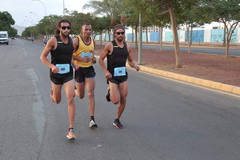 Abdullah and Abdelqayom Albasha competing in Jordan.