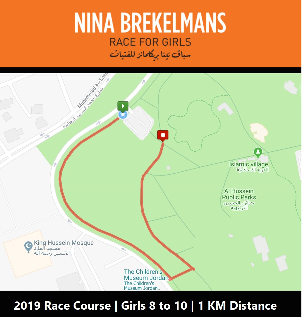 Race Course for the Younger Category | Note: Course slightly modified day-of due to construction
