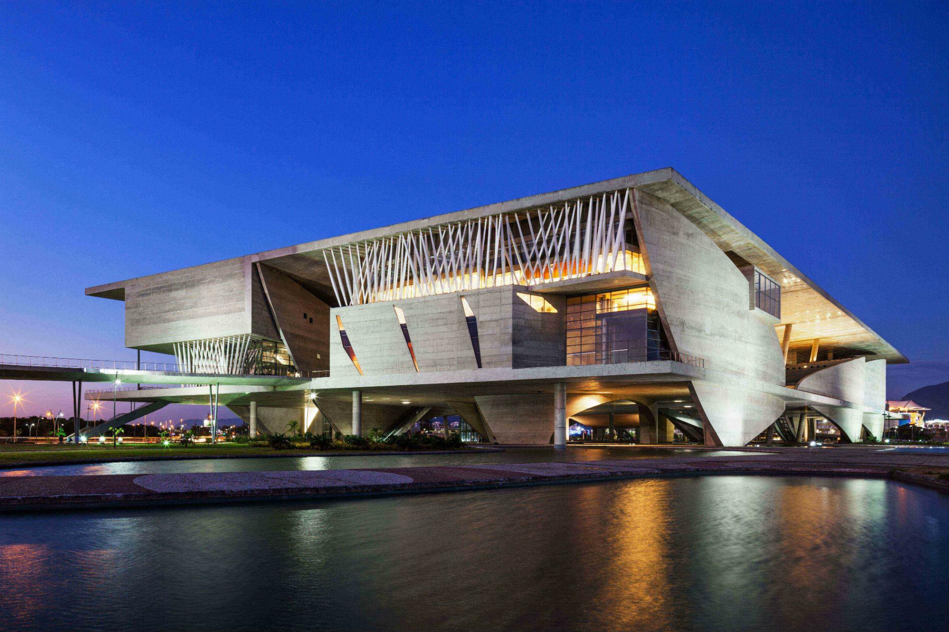 La Cité des arts de Rio de Janeiro réalisée par Christian de Portzamparc.