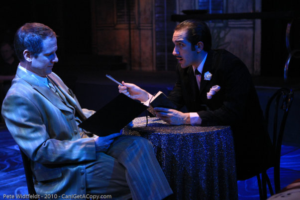"""As Andre Thibault in """"Dirty Rotten Scoundrels"""" at the Hale Center Theater Orem with David Walker"""