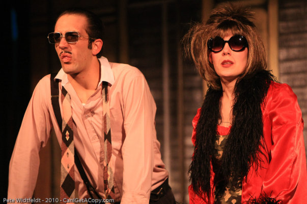 """As Andre Thibault in """"Dirty Rotten Scoundrels"""" at the Hale Center Theater Orem with Laurel Asay Lowe"""