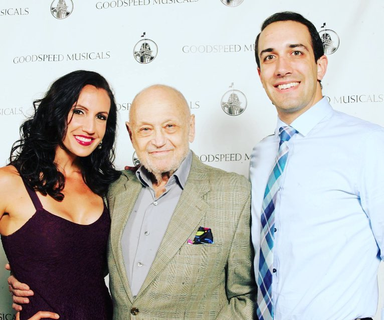 With Lauren Fijol and Charles Strouse, composer of Bye Bye Birdie, at the Goodspeed Opera House
