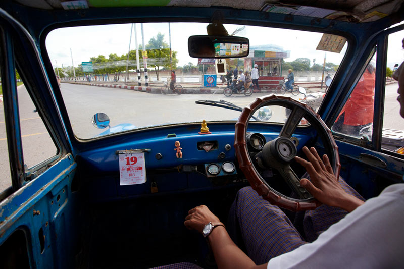 Mandalay-Burma Taxi Driver-f8, 1/600th sec, 500 ISO, focal length @17mm on Canon 5DMKIII