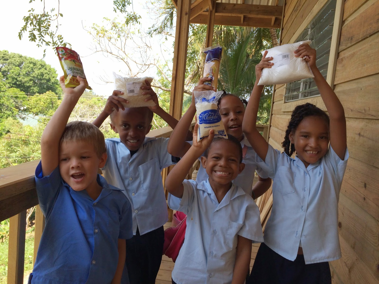 Some of the children who receive food through our Back Pack Program