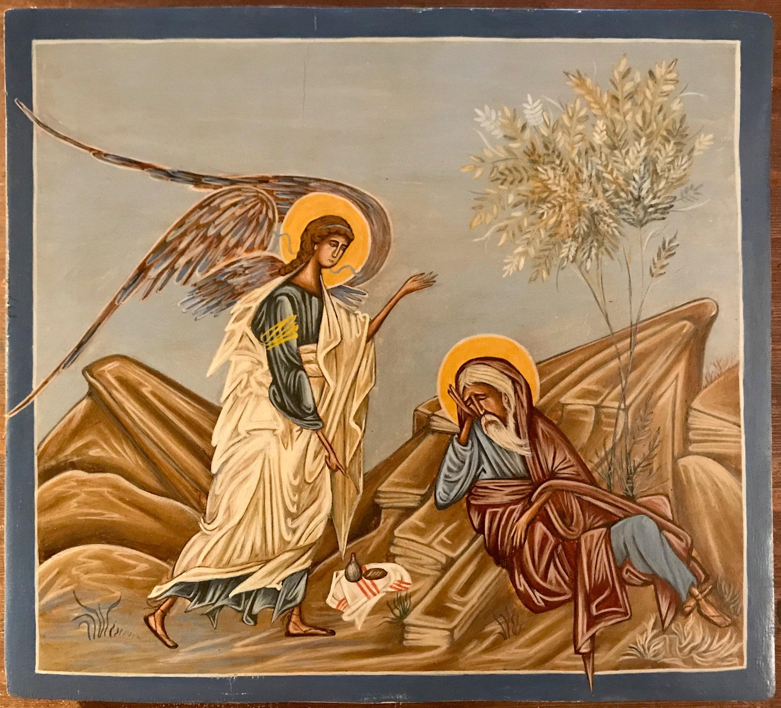Elie secouru par l'ange