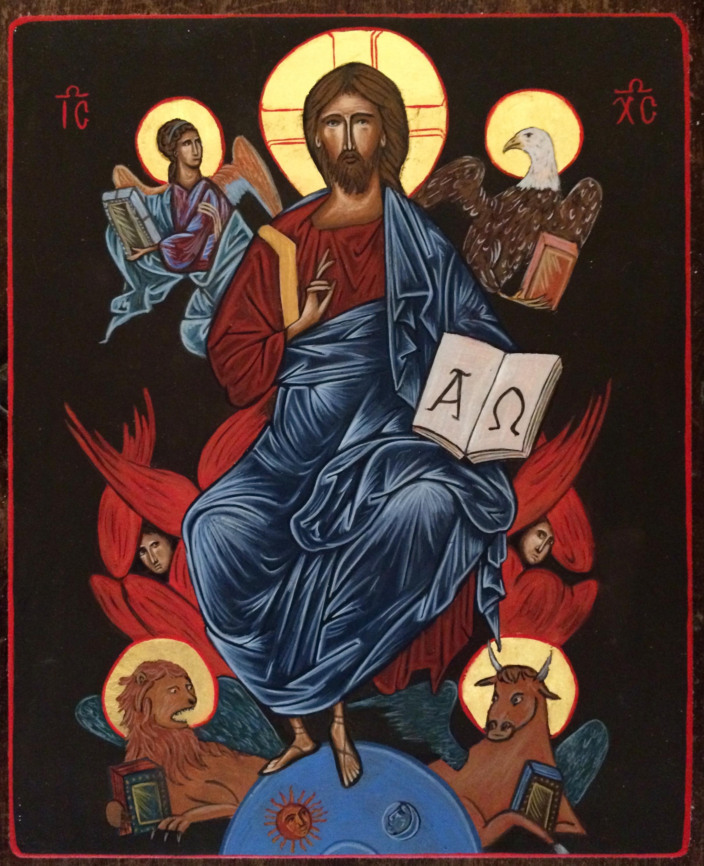 Christ Pantocrator et les Quater Evangélistes