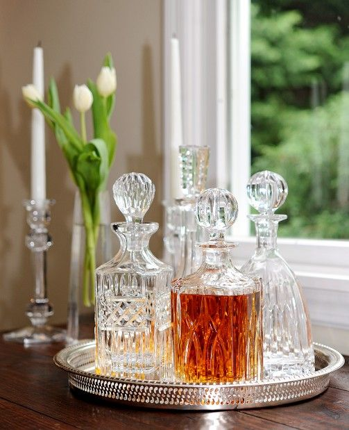 Bar Tray with Crystal Cut Decanters.jpg