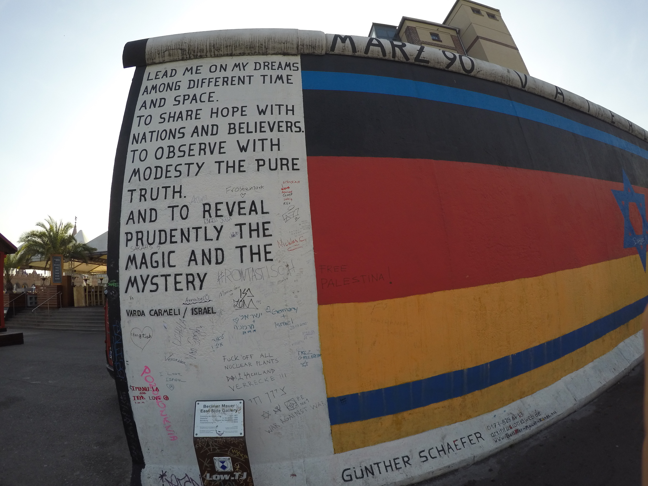 The Berlin wall, I took this picture while we walked along the wall earlier this month