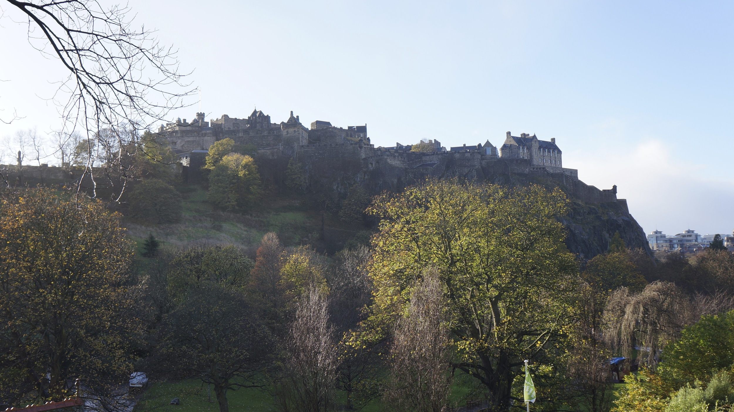 Edinburgh Castle from below