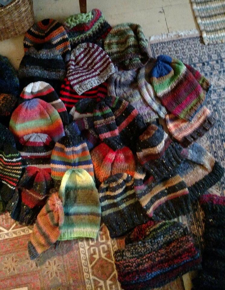 a billion striped hats