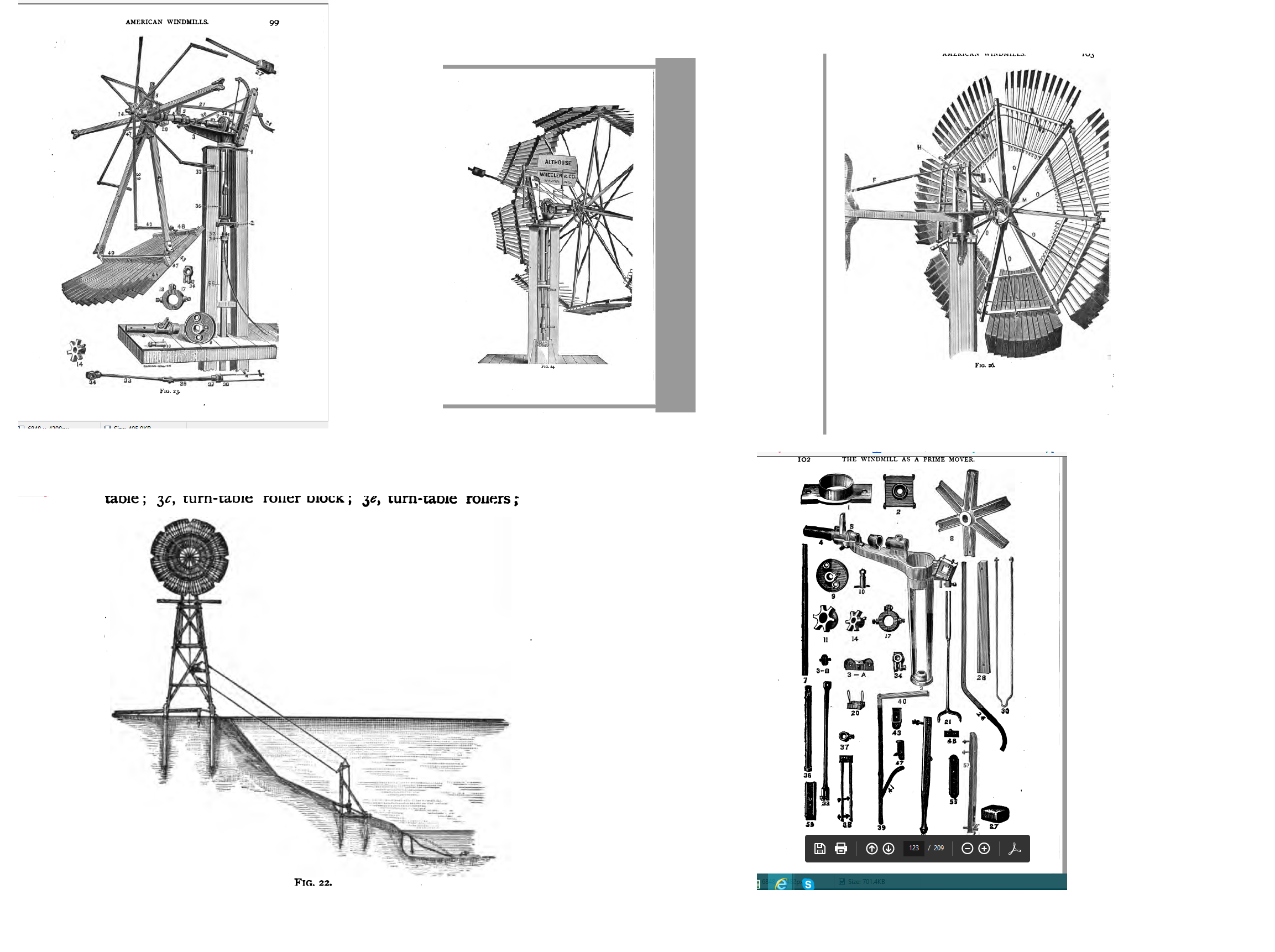Haladay type of American style windmill about 1910 from Althouse & Wheeler