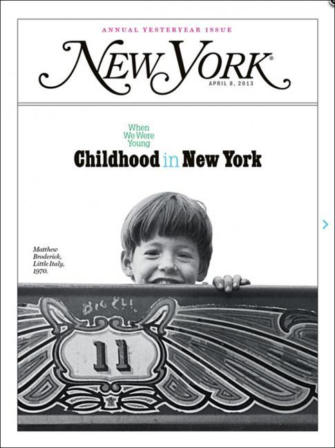 new york magazine / childhood issue / matthew broderick