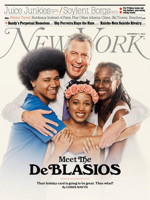 new york magazine / meet the de blasios / photograph by christopher anderson