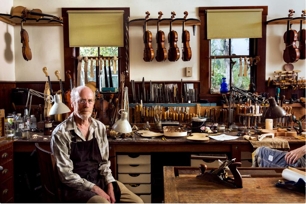 David Gusset, Violin Master  California Sunday Magazine  Photograph by Holly Andres