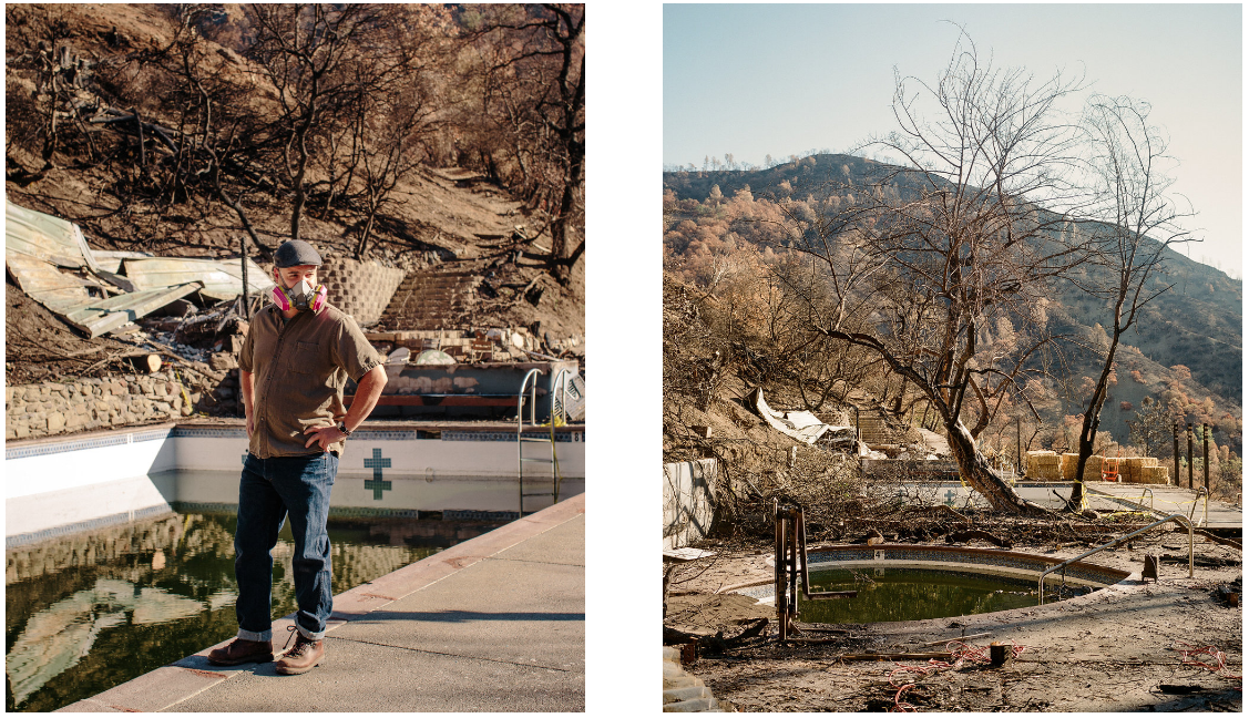 Harbin Hot Springs, Post Fire.  California, 2016  Photographs by Brian Flaherty