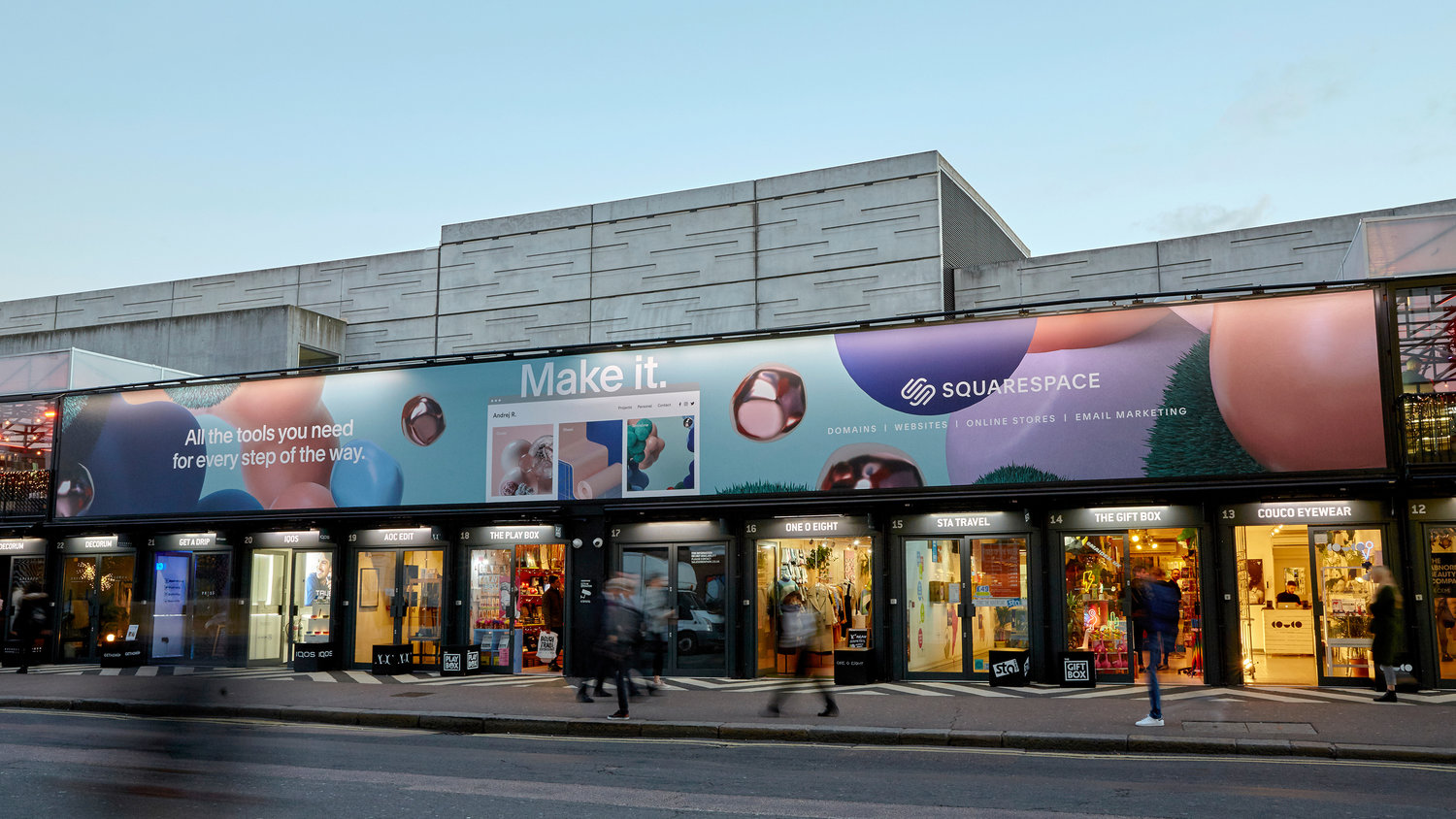 All In One Campaign, International OOH Box Park Banner  London, UK