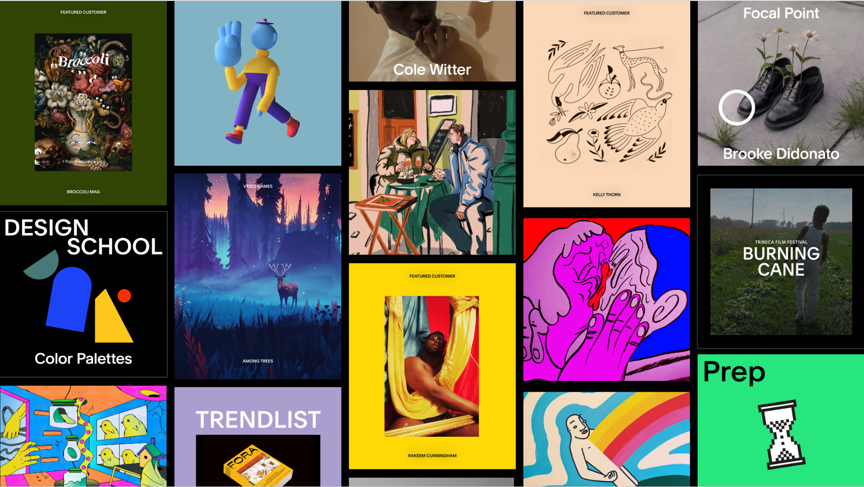 Squarespace x Instagram 2019  Various artists  (Customer curation, Outreach, Commissioning)