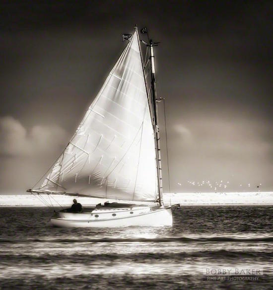 """Sailing Off Morris Island (Chatham, Cape Cod)''"