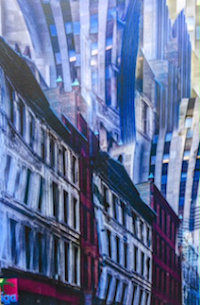 """Unquiet City XXA'' in the ""Boston Through the Eyes of Robert Hesse Collection''"