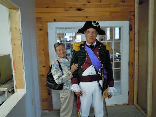 Ethan Allen (Josh Fitzhugh) on his way to his oration in Barre, Vt.