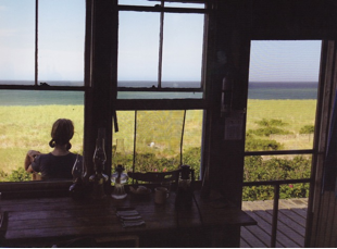 View from inside Boris's Shack, Provincetown