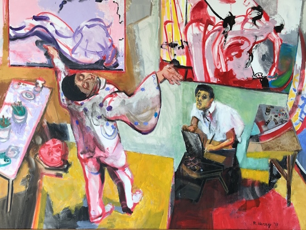 """""""Some Artists Are Models Too,'' by Robert Henry, in his show opening Aug. 19 at Berta Walker Gallery, Provincetown."""