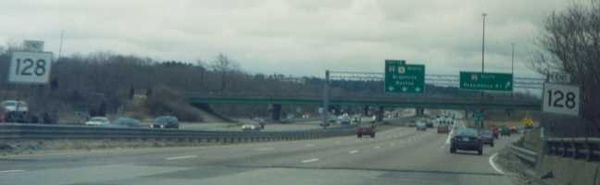Route 128 in Canton, Mass.