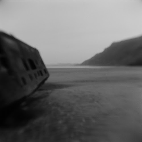 """From the show """"Atrocity Landscapes,'' large black and white photos by Sondra Peron, at Hampden Gallery, at the University of Massachusetts at Amherst, Nov. 13-Dec. 7. The curators say the photos """"reveal our collective historical memory as it inhabits our landscape today.''"""