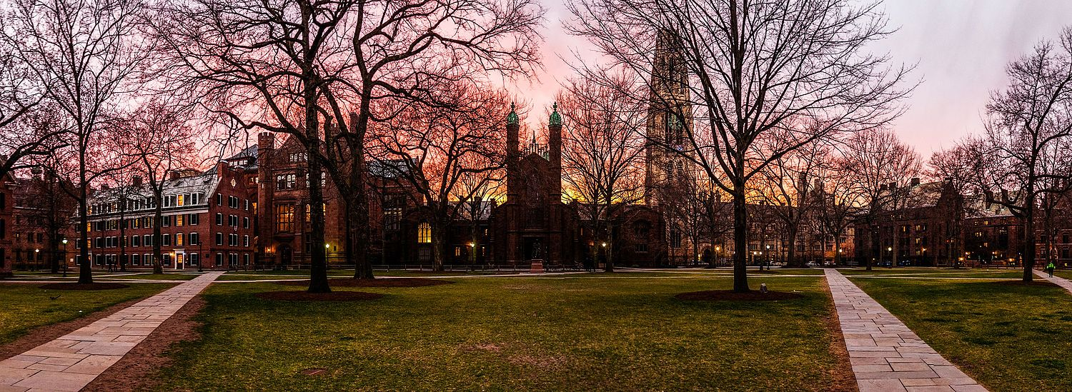 On the Yale campus.