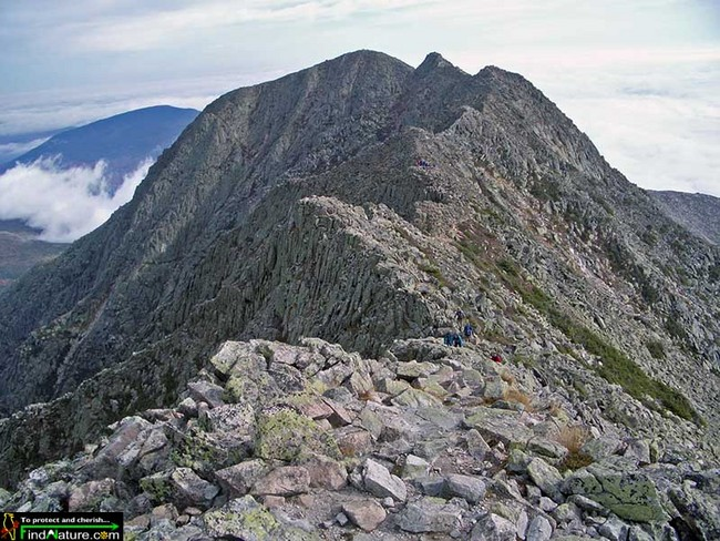 """The Knife Edge'' atop Mt. Katahdin."