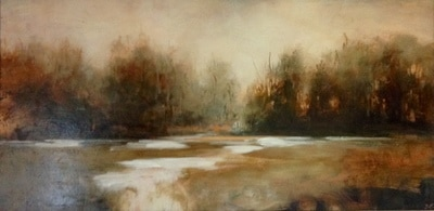 """""""Resolutions'' (oil on canvas), by Julia Purinton, at Alpers Fine Art, Andover, Mass."""