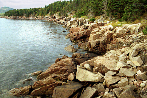 Along the shore of Acadia National Park, Maine    -- Photo by Brian W. Schaller