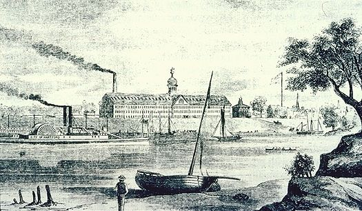 The Colt Armory,in Hartford,in 1857.
