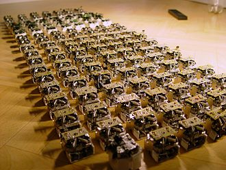 A  swarm  of robots from the open-source micro-robotic project.