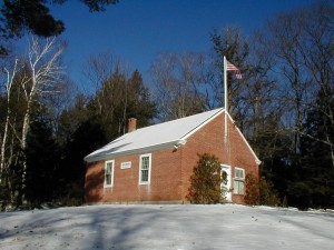 Schoolhouse in Sharon, N.H., the tiny town where P.J. O'Rourke lives.