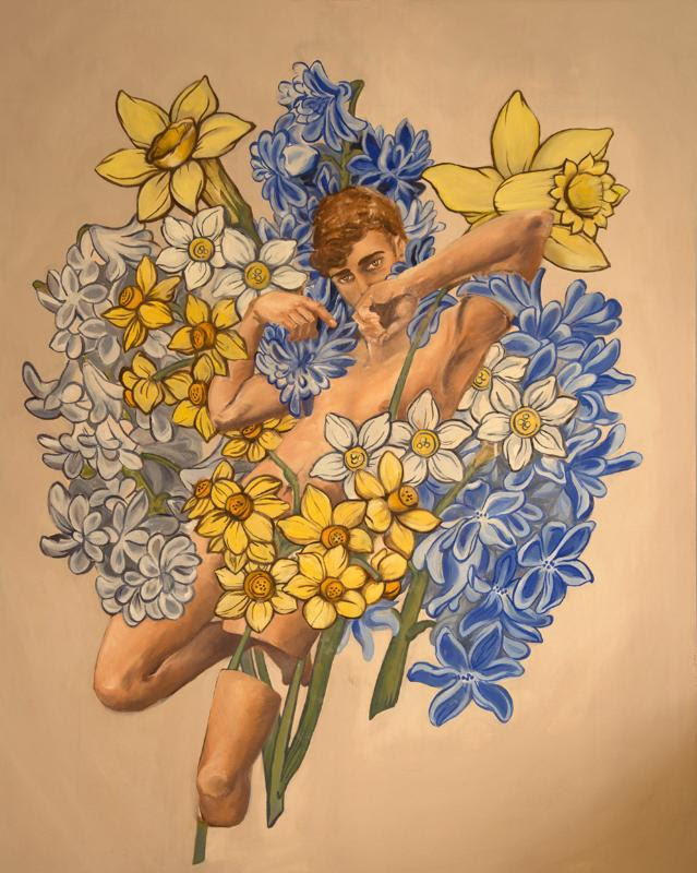 """''Eligma Narcissus,'' by Allison Thiel, in the """"Senior Concentration Seminar Exhibition 2017,'' at the Cantor Art Gallery, College of the Holy Cross, Worcester, April 27-May 26."""
