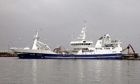 Irish fishing trawler.