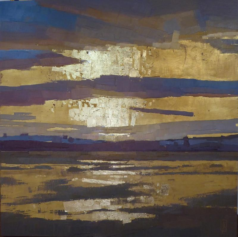 """""""Column of Light,'' by Sue Charles, at Alpers Fine Art, Andover, Mass."""
