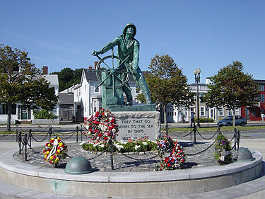 Fisherman's Memorial in Gloucester, Mass.
