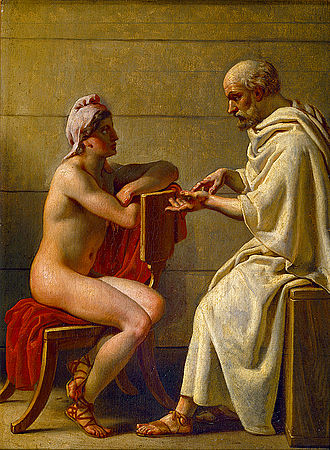 Socrates and {his, er, student}    Alcibiades , by  Christoffer Wilhelm Eckersberg .
