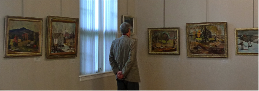 Quigley exhibition at Cheshire County Historical Society    -- Photo by William Morgan
