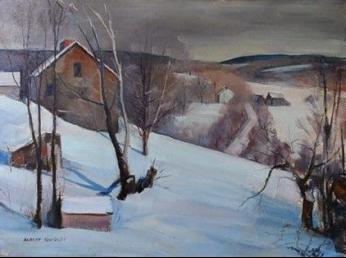 """House in Sullivan, New Hampshire, Looking Toward Sugar Hill.''"
