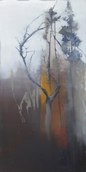 """Foggy Day'' (oil on canvas), by Joseph Diggs, in his show ""Life's Layers,'' at the Berta Walker Gallery, Provincetown,  June 30-July 22."