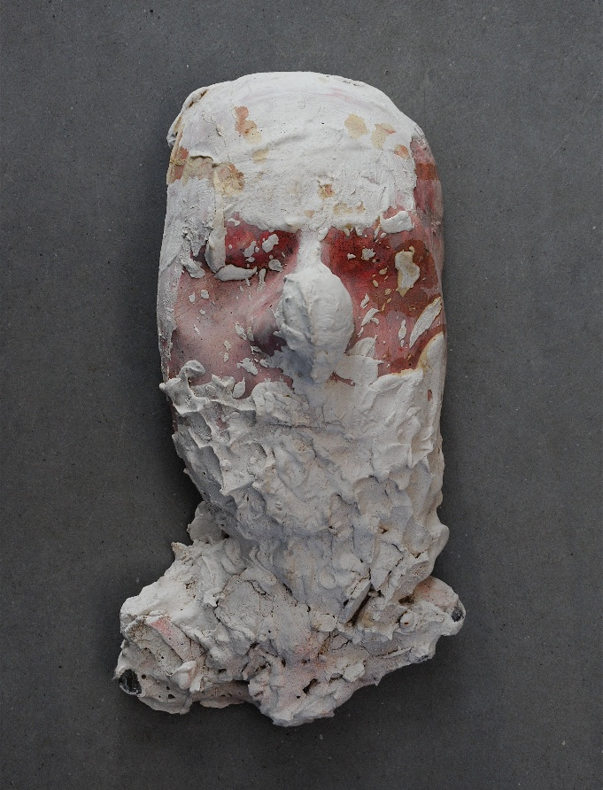 """""""Untitled''(mixed media), by Neal Beckerman,in his show through July 29 at Corey Daniels Gallery, Wells, Maine."""