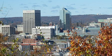 Downtown Worcester.
