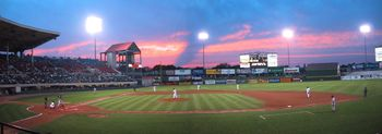 McCoy Stadium, the current home of the Pawtucket Red Sox.