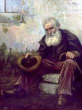 """The Old Beggar,'' by Lewis Dewis."