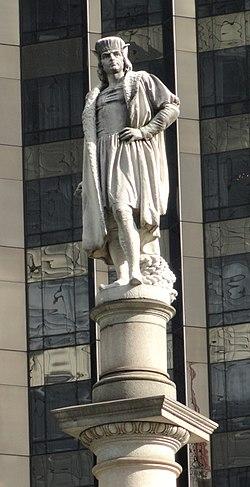 Statue of Christopher Columbus at Columbus Circle on Manhattan.