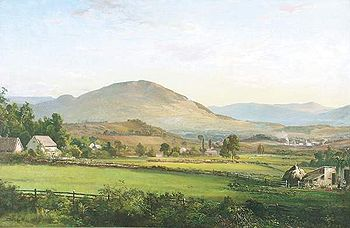 """View of Manchester, Vermont,  ''  by DeWitt Clinton Boutelle (1870)"