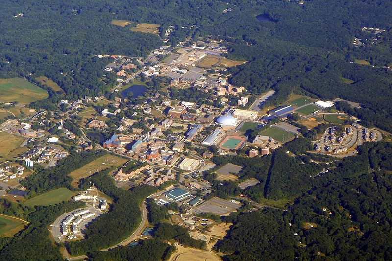 -- Photo by Global Jet    The ever-expanding main campus of the University of Connecticut, in Storrs.